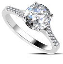 Stylish Round Shoulder Set Diamond Engagement Ring