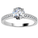 Crossover Shoulder Set Diamond Engagement Ring