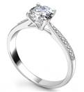 1.15ct SI1/D Round Diamond Shoulder Set Ring