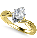 Image for Modern Intertwined Marquise Diamond Engagement Ring