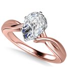 Image for Modern Intertwined Pear Diamond Engagement Ring