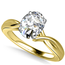 Image for Modern Intertwined Oval Diamond Engagement Ring