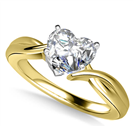 Image for Modern Intertwined Heart Diamond Engagement Ring