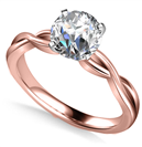 Image for Infinity Love Swirl Round Diamond Engagement Ring