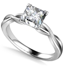Image for Infinity Love Swirl Princess Diamond Engagement Ring