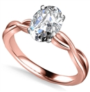 Image for Infinity Love Swirl Oval Diamond Engagement Ring