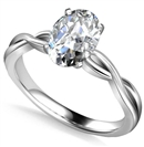 Infinity Love Swirl Oval Diamond Engagement Ring