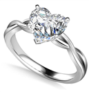 Image for Infinity Love Swirl Heart Diamond Engagement Ring