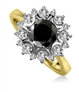 Image for Round Black Diamond Designer Ring