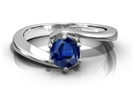 Image for Round Blue Sapphire Solitaire Ring