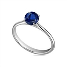 Image for Classic Round Blue Sapphire Solitaire Ring