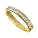 1.00CT VS/EF Princess Diamond Eternity Ring