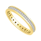 Image for 3mm Elegant Baguette Diamond Full Eternity Ring