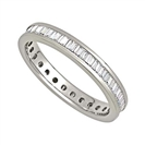 3mm Elegant Baguette Diamond Full Eternity Ring