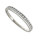 2mm Round Diamond Half Eternity Ring