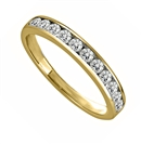 Image for 3mm Round Diamond Half Eternity Ring
