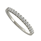Image for 0.20CT Round Diamond Half Eternity Ring