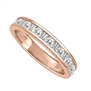 Image for 3mm Petite Round & Baguette Diamond Eternity Ring