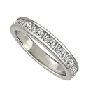 0.35CT VS/EF Round Diamond Half Eternity Ring