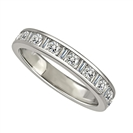 Image for 3.5mm Round/Baguette Diamond Eternity Ring