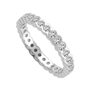 3mm Elegant Round Diamond Full Eternity Ring