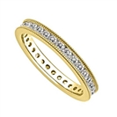 Image for 3mm Milgrain Elegant Round Diamond Full Eternity Ring