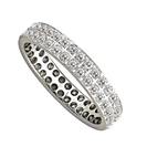 1.00CT Double Row Round Diamond Full Eternity Ring