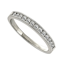 2.5mm Milgrain Round Diamond Eternity Ring
