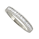 Image for 3.5mm Baguette Diamond Half Eternity Ring