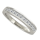 3.5mm Princess Diamond Half Eternity Ring