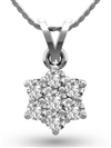 Image for Round Diamond Cluster Pendant