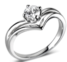 Image for Slender Split Compass Round Diamond Engagement Ring