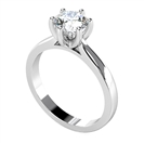 Image for Modern Round Diamond Engagement Ring