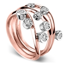 Image for 3 Round Diamond Stacking Dress Rings
