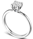 Image for Modern Heart Claw Princess Diamond Solitaire Ring