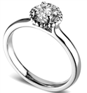 0.70CT SI1/D Round Diamond Ring
