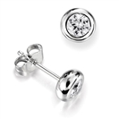 Modern Round Diamond Stud Earrings