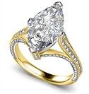 GIA CERTIFIED 0.50CT VVS1/E Marquise Diamond Shoulder Set Ring