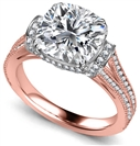 Image for Ribbon Cushion Diamond Vintage Ring