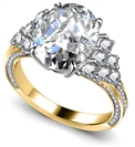 Image for Oval/Round Diamond Vintage Ring