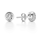 Image for Rubover Round Diamond Designer Earrings