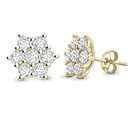 Image for Round Diamond Flower Cluster Earrings