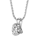 Crossover Round Diamond Pendant