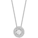 Image for Round Diamond Double Halo Pendant