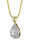 Image for Pear Diamond Double Halo Pendant