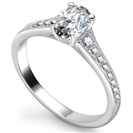 Image for Oval Diamond Shoulder Set Ring