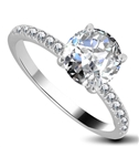 0.85ct SI2/G Shoulder Set Ring