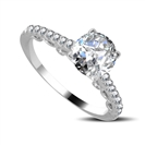 Modern Round Diamond Engagement Ring