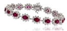 Image for Elegant Diamond & Ruby Tennis Bracelet