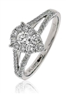 0.60ct Elegant Round Diamond Cluster Ring